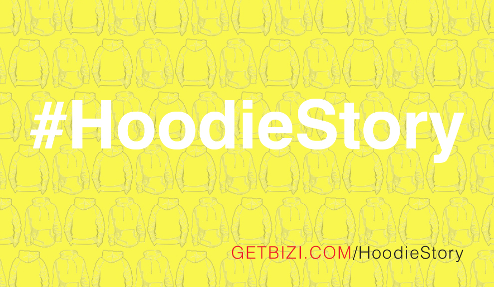 Hoodie Story Postcard Front